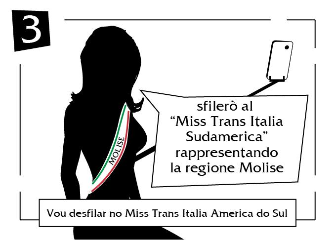 Vou desfilar no miss trans italia america do sul